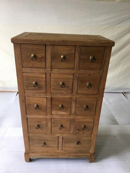 Antiker Apothekerschrank Kommode mit 14 Schubladen, Maß: Breite66xHöhe114cm