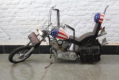"""Motorrad """" Jopper """" Motorradjopper Originalgroß aus Blech Länge140x Höhe76cm"""
