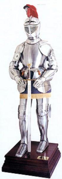 Ritterrüstung Modell Henry Glatt Höhe 190cm