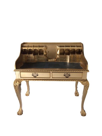 Sekretär Louise 104x110cm Farbe: Gold