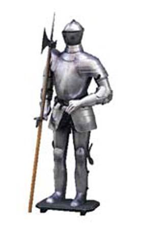 Ritterrüstung Zum Anziehen, Höhe 195cm