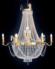 Kristallleuchter H120 x B60cm