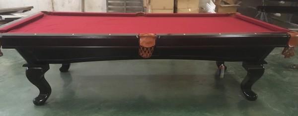 "9 FT. Pool Tunierbillardtisch Modell "" Templar "" Massivholz Billard Gestellfarbe Nussbaum Dunkelbra"