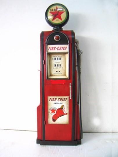 """Tanksäule Zapfsäule """" Modell Firechief"""" mit Gobe als Uhr Höhe 180cm"""