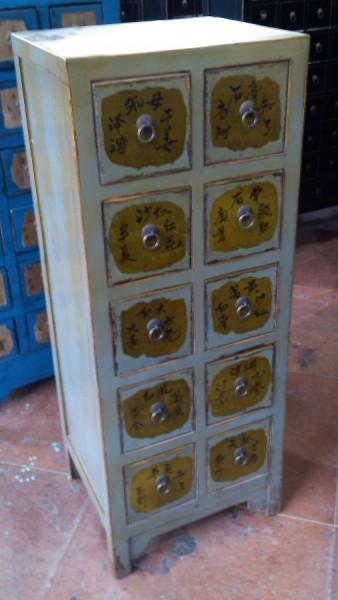 Antiker Apothekerschrank Apothekerkommode Apothekersideboard Aktenschrank Büroschrank
