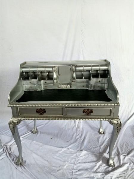 Antiker Barock Rokoko Louis Seize Sekretär Schreibtisch Breite102cm Silber