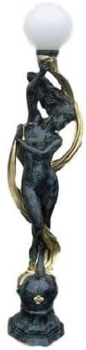 """Stehlampenfigur """" Venus mit Glaskugel"""" Höhe188cm Farbmarmoriert"""