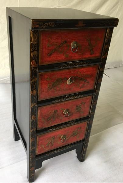 Antike Chinesische Kommode Sideboard mit 4 Schubladen Höhe88cm