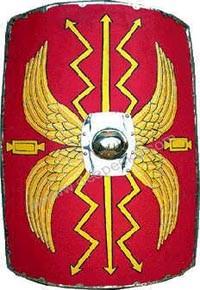 Römischer Schild Höhe105 x Breite 82cm