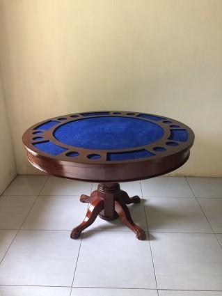 Pokertisch 2Versionen in einem Tisch rund 120cm Holz , Poker/Esstisch durch drehen oder abnehmen der