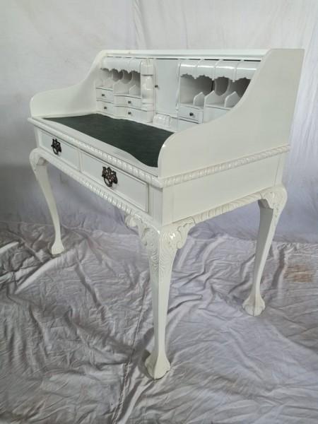 Antiker Barock Rokoko Louis Seize Sekretär Schreibtisch Breite102cm weiß