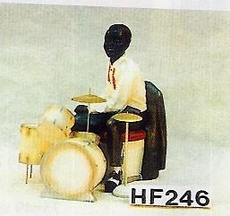 Figur Jazzfigur Schlagzeuger Höhe65cm