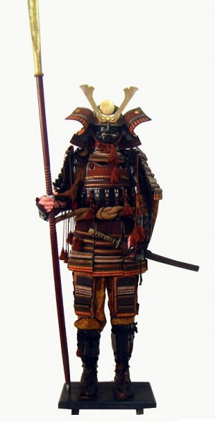"""Samurairüstung von """"Oda Nobunaga"""" für Dekoration, Showkampf, Rollenspiel und Theater, Höhe 195cm"""