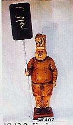 """Figur """"Koch"""" mit Tafel Höhe Koch112cm"""
