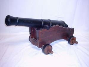 Schiffs- u. Festungsgeschützkanone Länge 115cm Vorderladerrohr