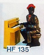 Figur Pianospieler Höhe 45cm