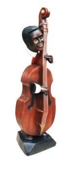 Baßspieler Jazzfigur Höhe80cm