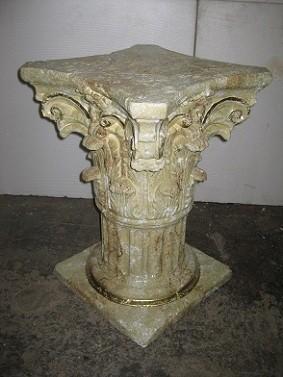 Säule, Podest oder Tischuntergestell, Höhe 72cm, Farbmarmoriert mit Farbgold