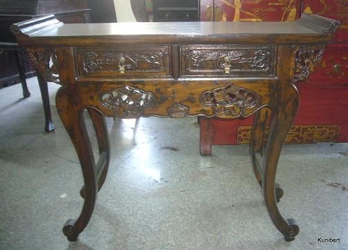 Antiker chinesischer Schreibtisch oder Wandkonsolentisch