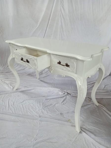 Antiker Barock Rokoko Louis Seize Sekretär Schreibtisch Breite122cm Farbe: weiß