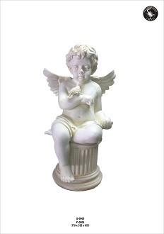 Engel sitzend auf Säule, Höhe66cm