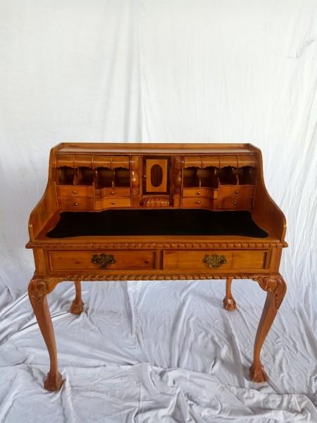 Antiker Barock Rokoko Louis Seize Sekretär Schreibtisch Breite102cm Natur