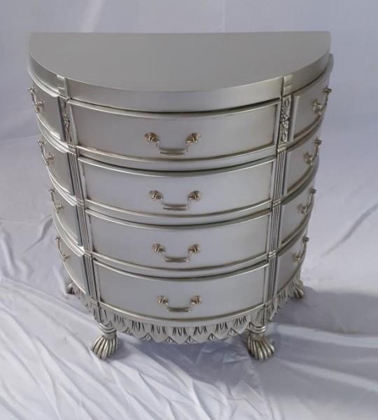Antike Barock Rokoko Louis Kommode Sideboard Breite67cm Silber