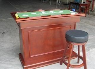 Pokerspieltischbar 4 in einem Roulette/Poker/Würfel/Black Jack/Theke Breite 135cm