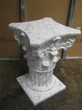Säule,Podest oder Tischuntergestell Antik, Höhe72cm, Farbmarmoriert