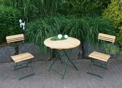 """Biergartengarnitur """"München 3 teilig grün"""" Tisch rund, Robiene"""