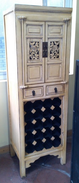 Antiker Weinschrank Thekenschrank Barschrank Bar Schrank für 20 Flaschen und 2 Schubladen und 2 Türe