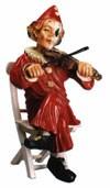 Clown Violinespieler Höhe 59cm
