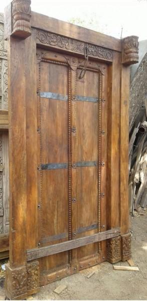 Antike Mittelalterliche Eingangstür Höhe225xBreite138cm Massivholz