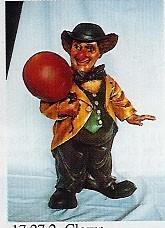 "Figur ""Clown mit Ballon"" Höhe 65cm"