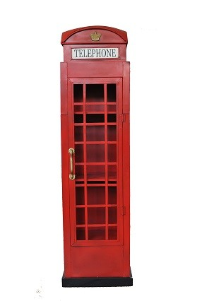 Englische Telefonzelle Höhe 160cm