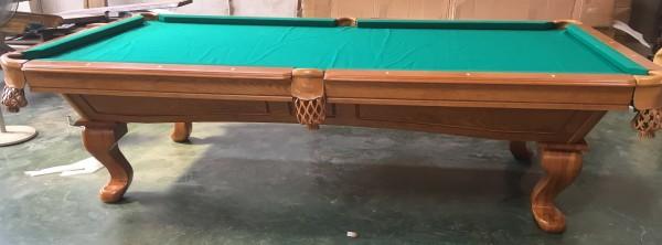 "9 FT. Pool Tunierbillardtisch Modell "" Templar "" Massivholz Billard Gestellfarbe Antike Eiche Rusti"
