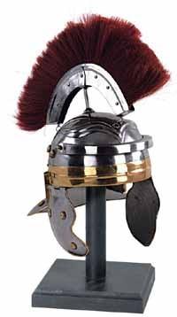 Römischer Helm mit Helmbusch