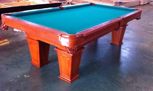 8 Ft. Pool - Tunierbillard Model Wingate Farbe: Nussbaum Hellbarun Tuchfarbe Grün