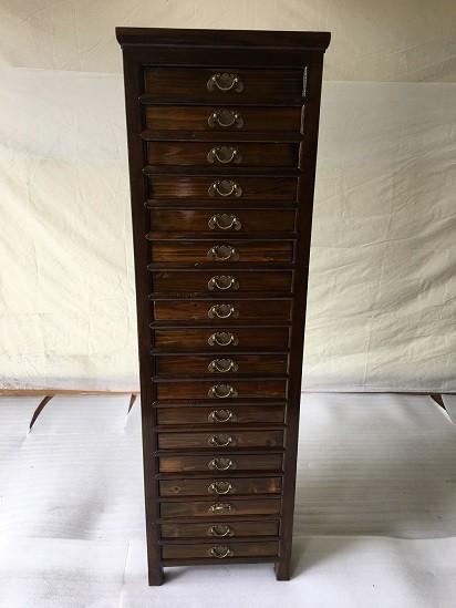 Antiker Büroschrank Aktenschrank Apothekerschrank Dokumentenschrank Höhe150cm mit 18 Schubladen