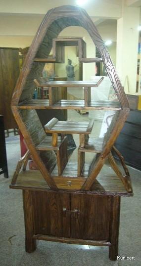 Antiker Wurzelholzschrank Höhe180cm
